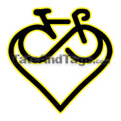 infinity bike heart temporary tattoo