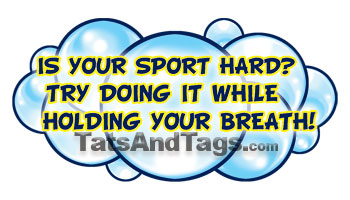 Is Your Sport Hard Temporary Tattoo