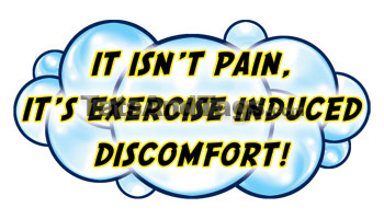It isn't pain, it's exercise induced dsicomfort temporary tattoo