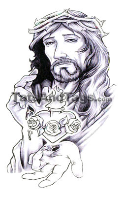 Jesus Temporary Tattoo | Religious Designs by Custom Tags