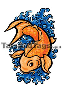 Koi fish temporary tattoo