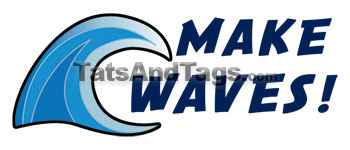 Make Waves temporary tattoo