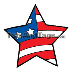 patriotic star temporary tattoo