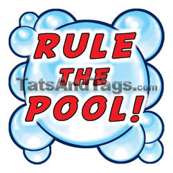rule the pool temporary tattoo