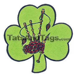 bagpipes shamrock temporary tattoo