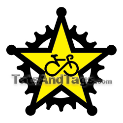 star infinity bike temporary tattoo