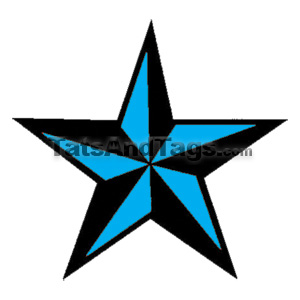 Blue nautical star temporary tattoo star designs by custom tags shop tattoos by category urmus Gallery