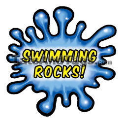 swimming rocks temp tattoo