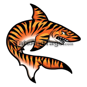 tiger shark temporary tattoo