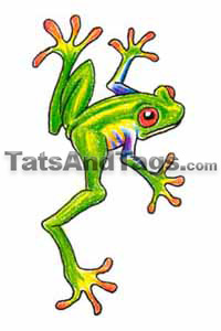 tree frog temporary tattoo