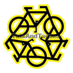 Tri Bicycle Temporary Tattoo