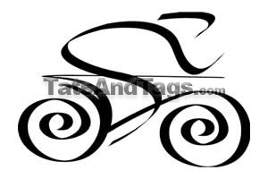 tribal bicycle temporary tattoo