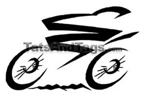 tribal bike temporary tattoo