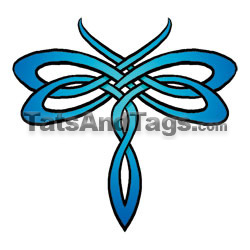 tribal dragonfly temporary tattoo