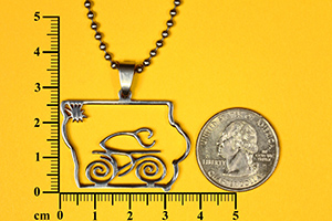 Tribal biker in Iowa pendant