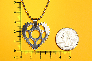 Chainring Heart Bike Pendant