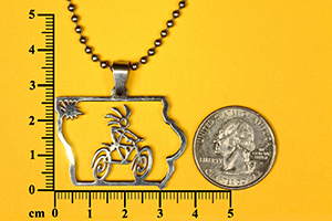 Kokopelli bicycle pendant