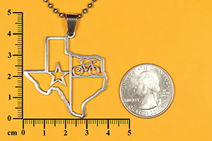 Texas State bicycle pendant