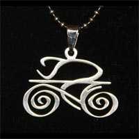 tribal bicycle necklace