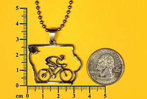 Iowa Bicycle Pendant