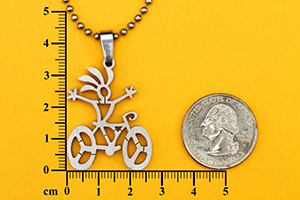 kokopelli bike necklace