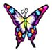 Butterfly temporary tattoo image