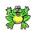Frog temporary tattoo image