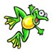 Jumping Frog temporary tattoo