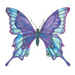 Blue Butterfly temporary tattoo