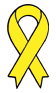 yellow ribbon temporary tattoo