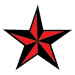 red star temporary tattoo